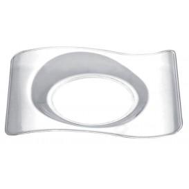 Piatto Degustazione Forma Transp. 8,0x6,6 cm (50 Pezzi)