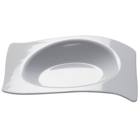 "Piatto Degustazione ""Flat"" Bianco 8x6,6 cm (50 Pezzi)"