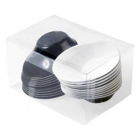 """Ciotola di Plastica Degustazione """"Sodo"""" in bianco e nero 50 ml (240 Pezzi)"""
