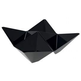 Ciotola Degustazione Origami PS Nero 103x103mm (25 Pezzi)