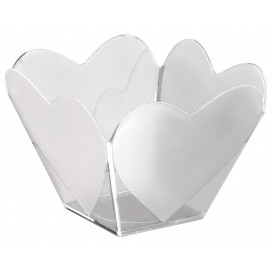 """Ciotola di Plastica Degustazione """"Cupido"""" Transparente 68 ml (25 Pezzi)"""