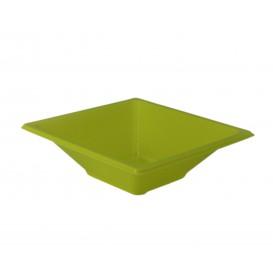 Ciotola Plastica PS Quadrato Pistacchio 12x12cm (12 Pezzi)