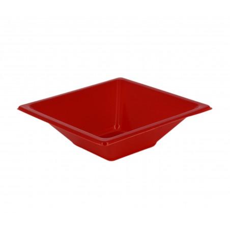 Ciotola Plastica Quadrato Rosso 120x120x40mm (12 Pezzi)