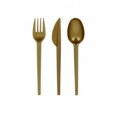 Coltello di Plastica PS Oro 165mm (600 Pezzi)