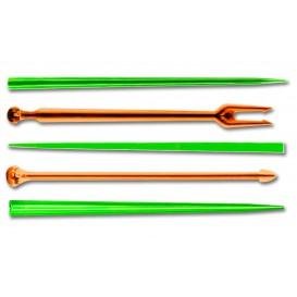 Pick di Plastica Snack Stick Multicolore 90mm (1650 Pezzi)