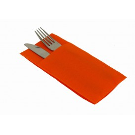 Tovagliolo Portaposate di Carta 40x40cm Arancione (30 Pezzi)