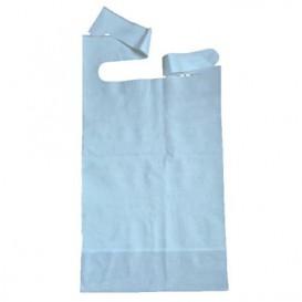 Bavaglino Adulto con Tasca Blu 36x65cm (125 Pezzi)