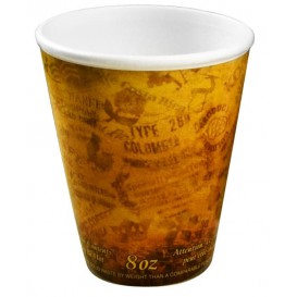 "Bicchiere Termici EPS ""Fusion"" Arancione 9Oz/266ml Ø8,1cm (25 Pezzi)"