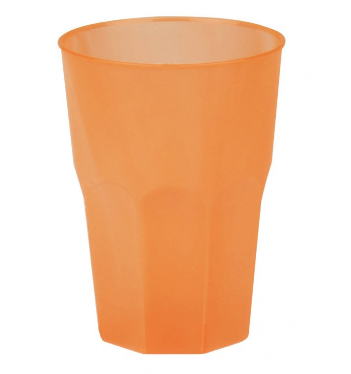 """Bicchiere Plastica """"Frost"""" Arancione PP 350ml (420 Pezzi)"""