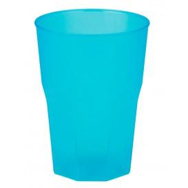 Bicchiere Plastica Turchese PP 350ml (20 Pezzi)