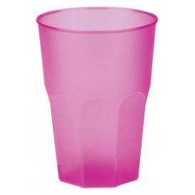 """Bicchiere Plastica """"Frost"""" Fucsia PP 350ml (20 Pezzi)"""
