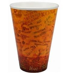 "Bicchiere Termici EPS ""Fusion"" Arancione 16Oz/473ml Ø9,4cm (25 Pezzi)"