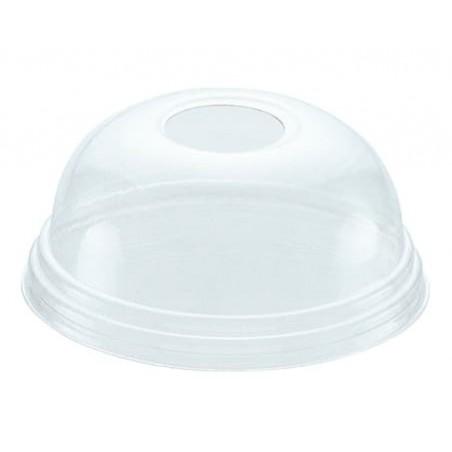 Coperchio a Cupola con Foro per Bicchieri PET 215ml e 295ml Ø8,1cm (100 Pezzi)