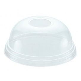 Coperchio a Cupola con Foro per Bicchieri PET 545ml e 610ml Ø9,8cm (100 Pezzi)