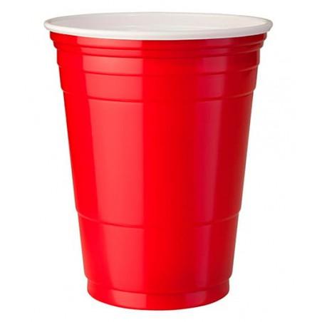 Bicchiere Rosso Plastica di PS 360ml (50 Pezzi)
