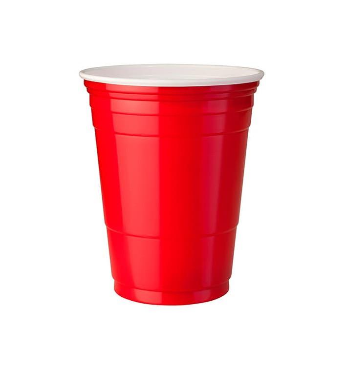 Bicchiere Rosso Plastica di PS 360ml (1000 Pezzi)