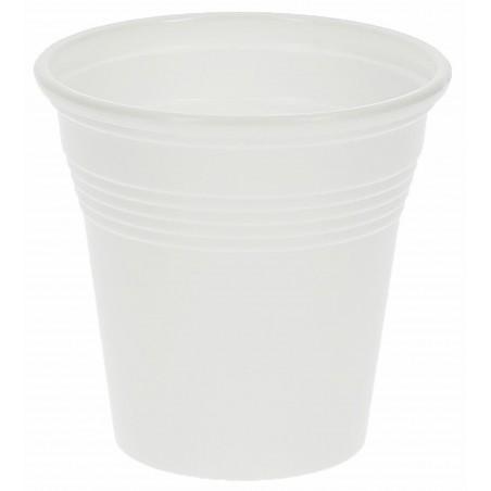 Bicchiere di Plastica PS Bianco 80 ml (50 Pezzi)
