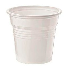 Bicchiere di Plastica PS Bianco 80ml Ø5,7cm (100 Pezzi)