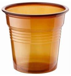 Bicchiere di Plastica PS Marrone 80ml Ø5,7cm (50 Pezzi)