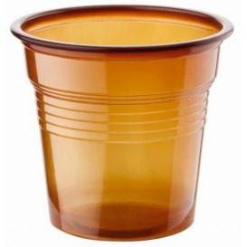 Bicchiere di Plastica PS Marrone 80ml Ø5,7cm (2400 Pezzi)