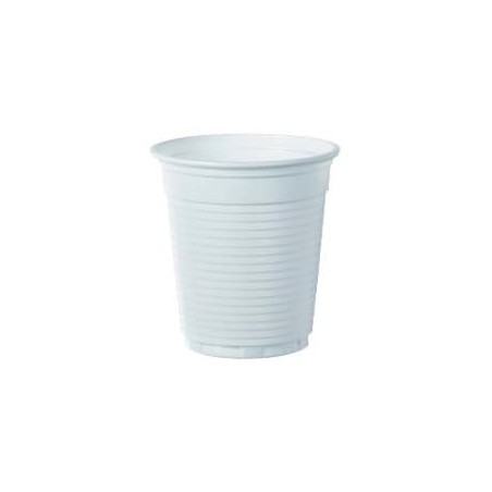 Bicchiere di Plastica PS Bianco 166ml Ø7,0cm (100 Pezzi)