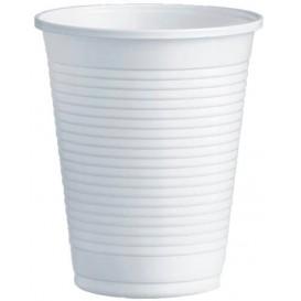 Bicchiere di Plastica PS Bianco 200ml Ø7,0cm (100 Pezzi)