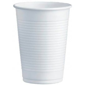 Bicchiere di Plastica PS Bianco 230ml Ø7,0cm (100 Pezzi)