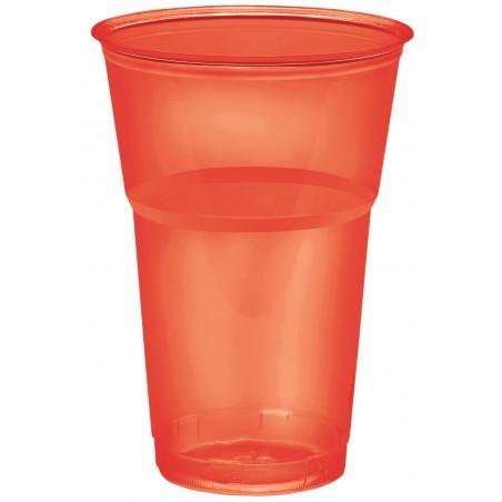 "Bicchiere Plastica ""Diamant"" PS Cristal Rosso 250ml Ø7,3cm (10 Uds)"