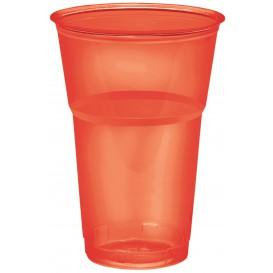 "Bicchiere Plastica ""Diamant"" PS Cristal Rosso 250ml Ø7,2cm (200 Uds)"
