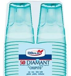 "Bicchiere Plastica ""Diamant"" PS Blu Transp. Cristal 50ml (50 Uds)"