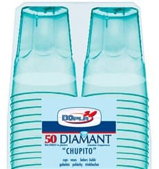 "Bicchiere Plastica ""Diamant"" PS Blu Transp. Cristal 50ml (600 Uds)"