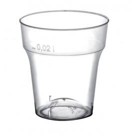 Bicchiere di Plastica per Cicchetto Moon Transp. PS 20ml (50 Pezzi)