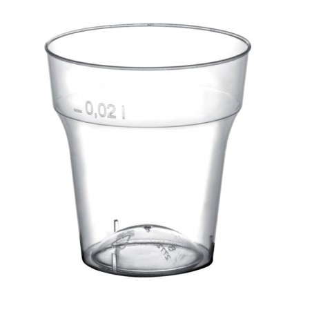 Bicchiere Plastica Cicchetto Transp. PS 20 ml (50 Pezzi)