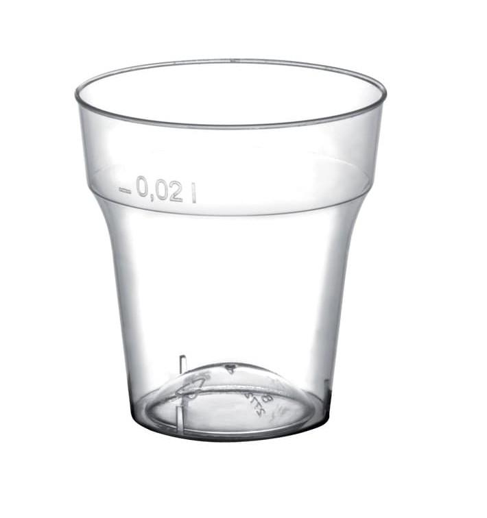 Bicchiere di Plastica per Cicchetto Moon Transp. PS 20 ml (2000 Pezzi)