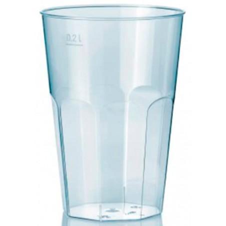 """Bicchiere Plastica """"Deco"""" PS Trasparente 200 ml (25 Pezzi)"""