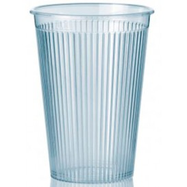 "Bicchiere Plastica ""Ribbed"" PS Trasparente 200 ml (25 Pezzi)"