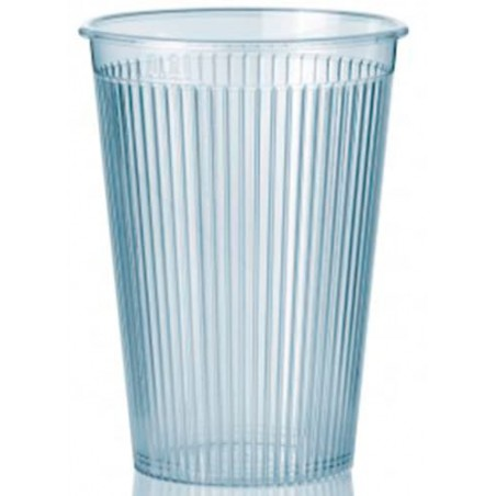 "Bicchiere Plastica ""Ribbed"" PS Trasparente 200 ml (1.000 Pezzi)"