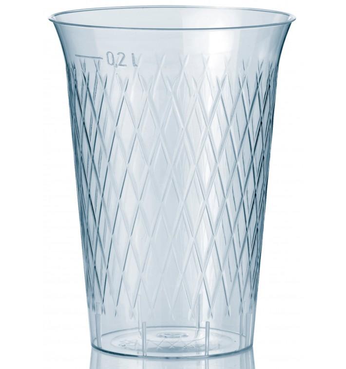 Bicchiere di Plastica Rigida Rombi PS 200 ml (50 Pezzi)