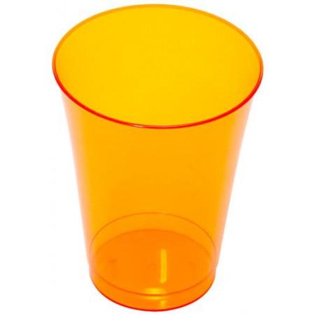 Bicchiere Plastica Rigida Arancione 230 ml (10 Pezzi)