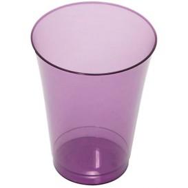 Bicchiere di Plastica Rigida Prugna 230 ml (10 Pezzi)