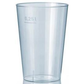 Bicchiere di Plastica Trasparente 250 ml (50 Pezzi)