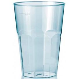 """Bicchiere di Plastica """"Deco"""" PS Trasparente 300 ml (30 Pezzi)"""