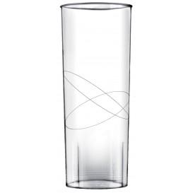 Bicchiere di Plastica Rigida Moon Trasparente PS 300ml (490 Pezzi)