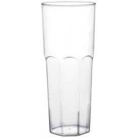 Bicchiere di Plastica Vetro Trasp. PS Ø65mm 350ml (10 Pezzi)