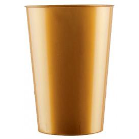 Bicchiere di Plastica Moon Oro PS 230ml (35 Pezzi)