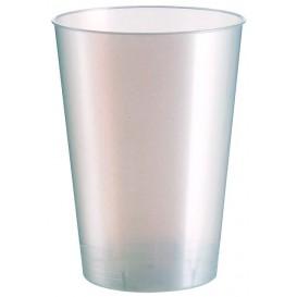 Bicchiere di Plastica Moon Bianco Pearl PS 230ml (50 Pezzi)