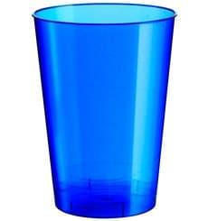 Bicchiere di Plastica Moon Blu Pearl PS 230ml (1000 Pezzi)