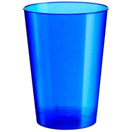 Bicchiere di Plastica Moon Blu Pearl PS 230ml (50 Pezzi)