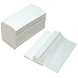 Carta Asciugamani Tissue Bianco 2 Velis Z (150 Pezzi)