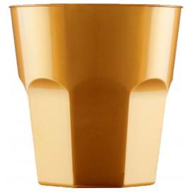 Bicchiere Plastica Cocktail Oro PS Ø73mm 220ml (500 Pezzi)